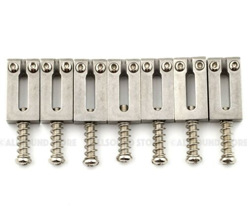 STAINLESS STEEL Bridge Saddles for 7-String Electric Guitar 10.5mm Spacing