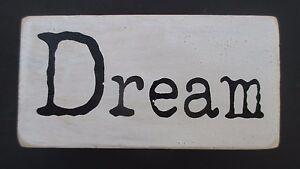 Image Is Loading P Dream Word Blocks Wood Home Decor Distressed
