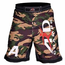 ARD Camo Pro MMA Fight Shorts Urban-Grey Camouflage UFC Cage Fight Grappling
