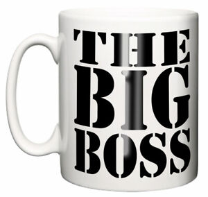Dirty Fingers Mug, The Big Boss Funny Secret Santa Office Manager Colleague Gift