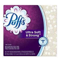 Puffs Ultra Soft - Strong Facial Tissues Color May Vary 56 Ea on sale