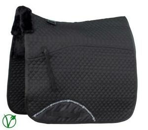 Rhinegold Luxe Horse Dressage Saddlecloth in Black/Black