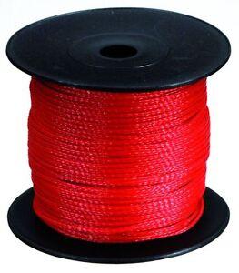 Maurerschnur Länge 50m Durchmesser 1,7mm rot//weiß Reißkraft 40kg