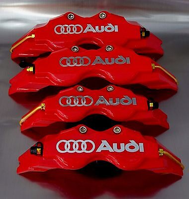 4 Cubrepinzas Audi Cromo Freno Cubre Pinzas Brake Cover Brembo Sline Caliper