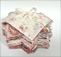 Pink Bundle Craft Fabric Material Sewing Patchwork Quilting Squares FREE Buttons