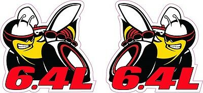 """Scat Pack 6.4L Decals Right /& Left 6/"""" Each"""