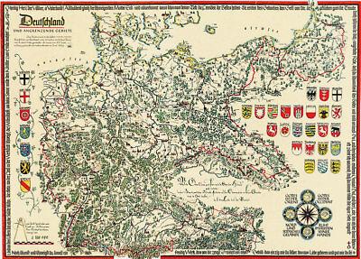 Landkarte Deutschland Und Angrenzende Gebiete 1925 1934