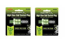 2 Legacy Flexzilla High Flow Ball Swivel Plug Air Fitting 14 Mnpt A53440fzbs
