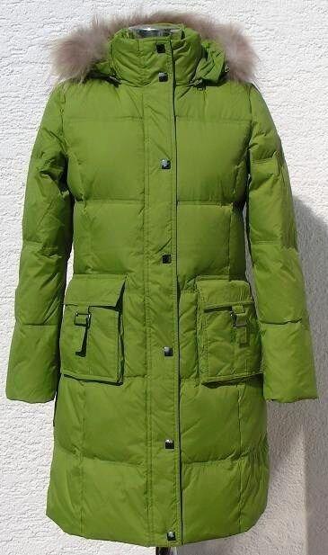 Women's Lady's Winter Long Down Coat (GM5062),Green,M
