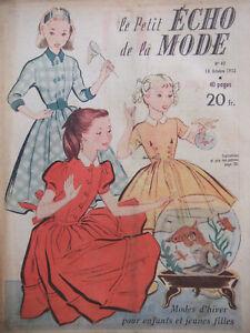 Magazine-1953-LE-PETIT-ECHO-DE-LA-MODE-N-42-winter-fashions-for-kids-and-girls