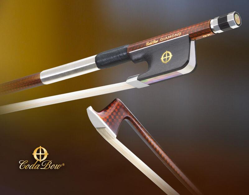 NEW CodaBow Diamond GX Carbon Fiber purple Bow, Lifetime Warranty