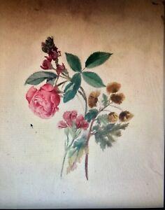 Détails Sur Bouquet De Fleurs Aquarelle Originale
