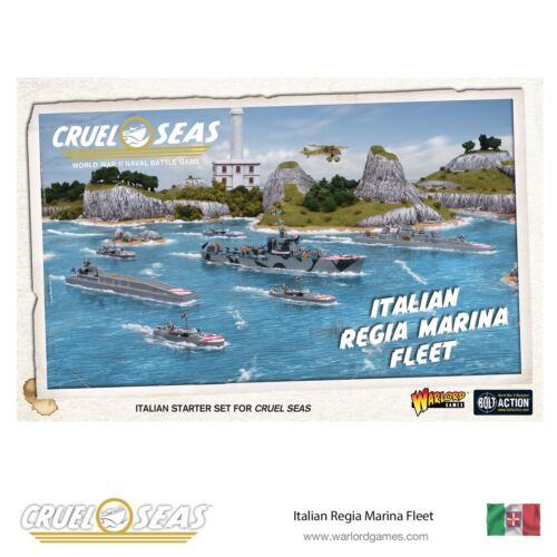 WARLORD GAMES cruel mers Entièrement neuf dans sa boîte italien Regia Marina flotte WGC-782612002