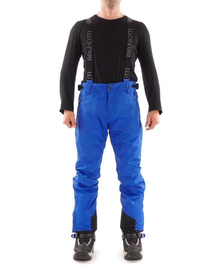 Brunotti Ski  Trousers Snowboard Trousers Damiro Canvas blue Strap Insulating  outlet