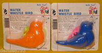 2 Water Whistle Birds Educational / Party Favors Toys - Orange & Blue