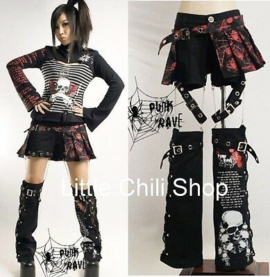 Lolita Kera VISUAL KEI PUNK Rock GOTHIC Printed trousers Pants skirt Freeship