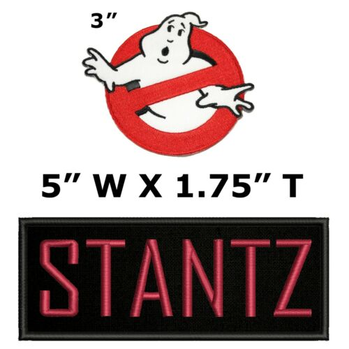 Ghostbusters Stantz Name Tag /& No Ghost Embroidered Iron On Applique Patches