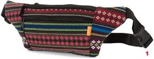 Royan Gürteltasche Bauchtasche mit Ethnomuster aus Baumwolle, Festival Tasche