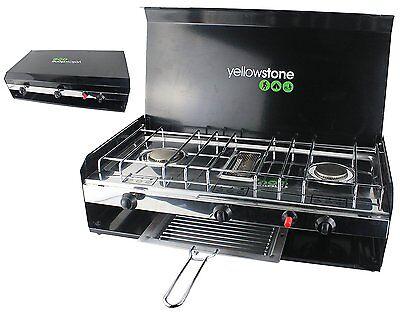 Campingaz chef Compact Pliable Double Brûleur Stove Portable Cuisinière Avec Grill