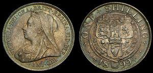 Great-Britain-1899-Silver-Shilling-S-3940A-UNC-5346