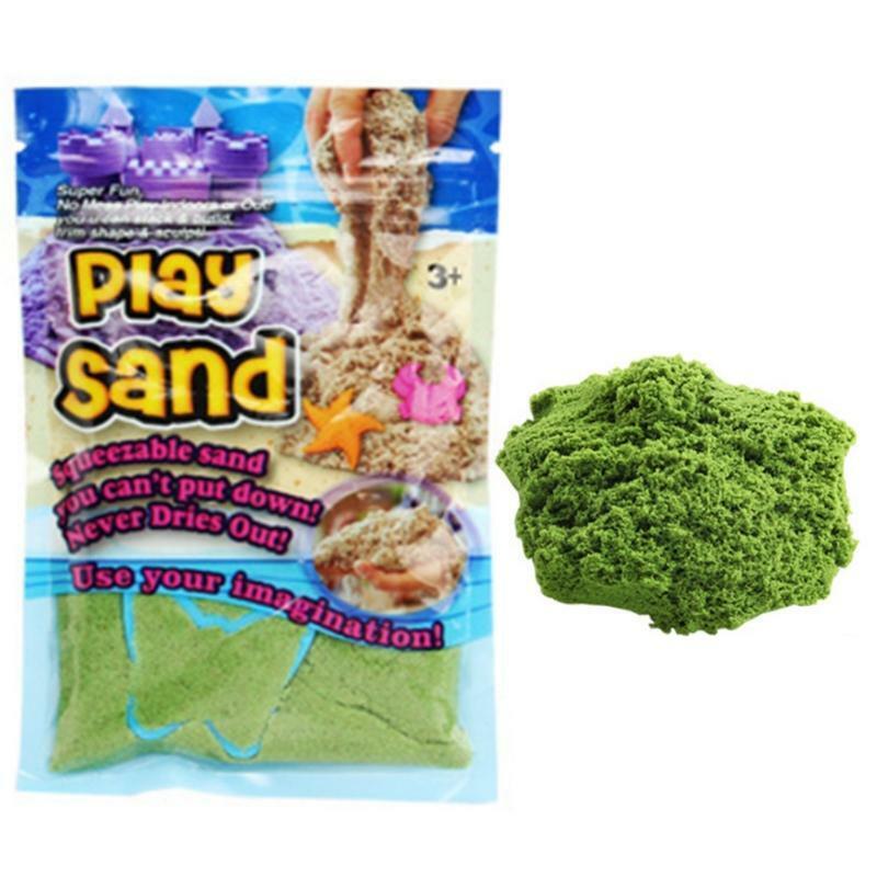 חול קינטי ירוק - 100 גרם