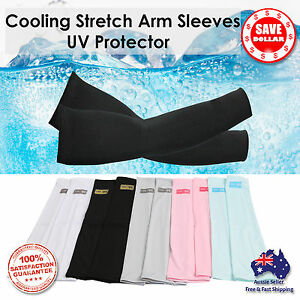 1-Pair-Cooling-Sport-Arm-Stretch-Sleeves-Sun-UV-Protection-Covers-Golf-Cycling