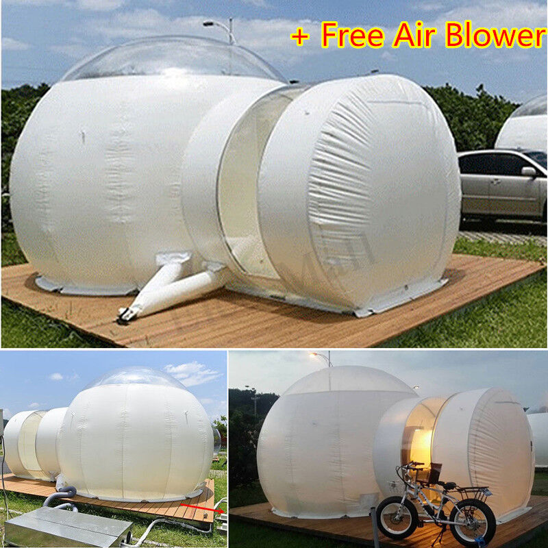 220V Outdoor Eco Friendly Tunnel Inflatable  Luxury House Dome Bubble Home Tent  authentic online