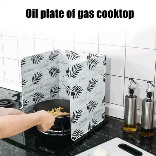 Kitchen Folding Cooking Oil Splash Screen Cover Anti Stove Guard Shield X8V1
