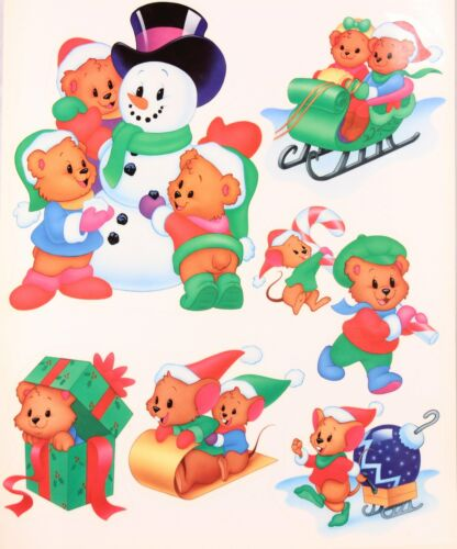 "1 17/"" X 12/"" Sheet Mello Smello Bears Window Clings U.S.A. One"