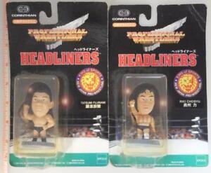 Tatsumi Fujinami mini Little Big Head Figure WWF WWE WRESTLING NJPW AJPW vintage