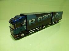 TEKNO HOLLAND SCANIA R620 V8  HIGHLINE TRUCK + TRAILER - BLUE 1:50 - GOOD