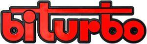 Rotes-Auto-Relief-3D-Schild-BITURBO-Emblem-17-cm-HR-Art-14617-selbstklebend