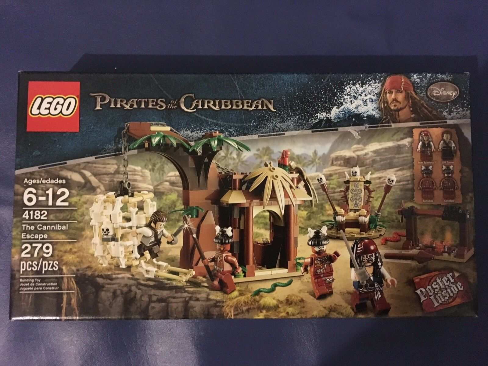 LEGO  Pirates of of of the Caribbean - The Cannibal Escape (4182) RETIRED   NIB   3df6d1