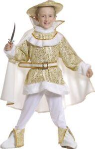 Obligeant Déguisement Garçon Prince Charmant Blanc 8 Ans Costume Marquis Renaissance Neuf Forte RéSistance à La Chaleur Et à L'Usure