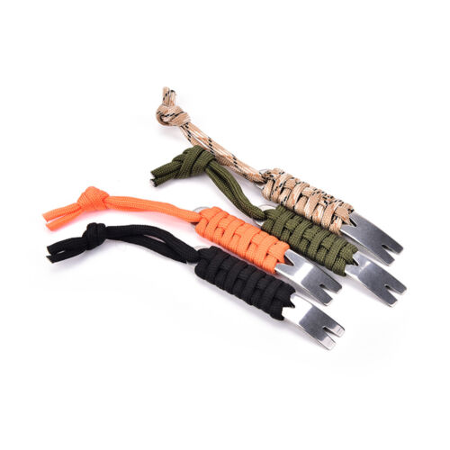 Mini Crank Crowbar Pocket Pry Bar Keychain Multi Tool Survival Scraper Opener JS