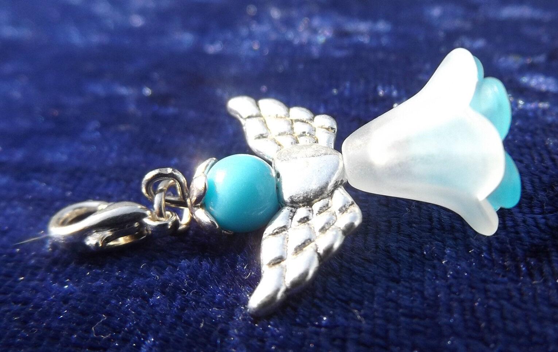 1 à 150 Ange Bleu Gardien Bleu Ange fée mariage baptême communion pendentif ange # 1624d7