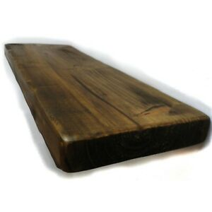 Wooden Rustic Shelf Floating Scaffold Board Shelves Chunky Handmade Bespoke Wood