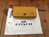 Disney X Coach Limited Edition Leather Mickey Dinky Crossbody Bag Yellow