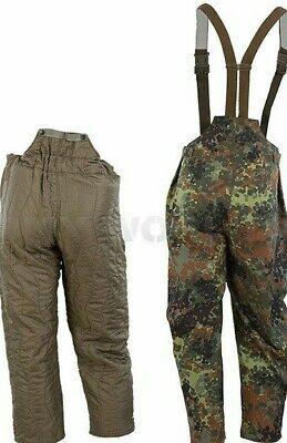 German Army Fur Fleece Lined Trousers Over Pants Waterproof Uniform// Clothing