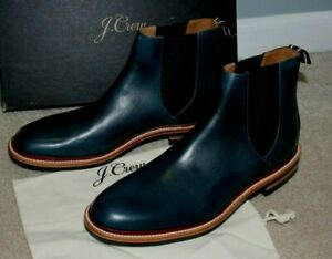$298 J.Crew Oar Stripe Chelsea Men Boot