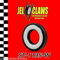 St 1135-w 1/32 Scale Slot Car Whitewall Tire For Early Revell, Marx 2-piece