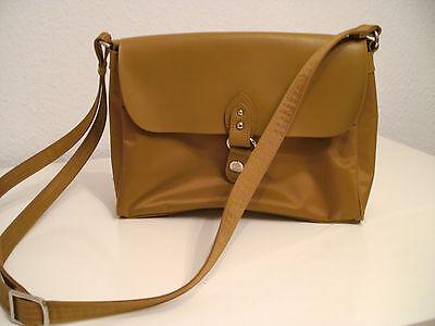 PICARD Beige Handtasche edler Leder / Stofftasche Zustand wie neu