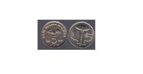 KM # 50 MALAYSIA 100 PIECES UNCIRCULATED 5 SEN COINS