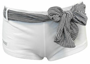 Pantaloncini-Denny-Rose-Donna-Bianco-Righe-Shorts-Woman-White-Lines