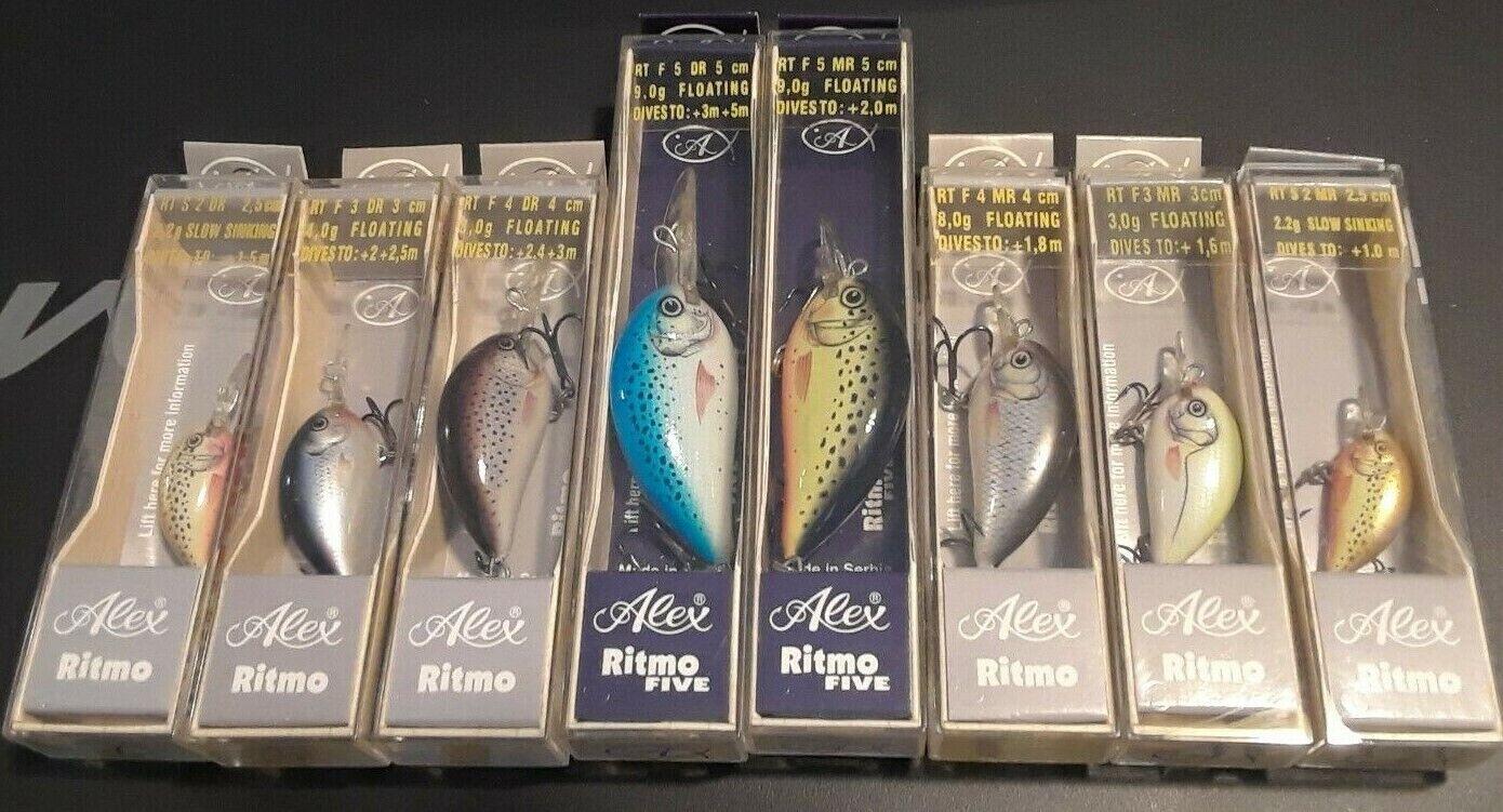 Alex Lures Ritmo   Ritmo Five Bundle of 12 Size 2-5 DR & MR