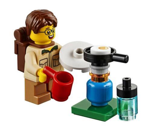 Lego ® City Minifig Figurine Enfant avec Accessoires de Camping NEW