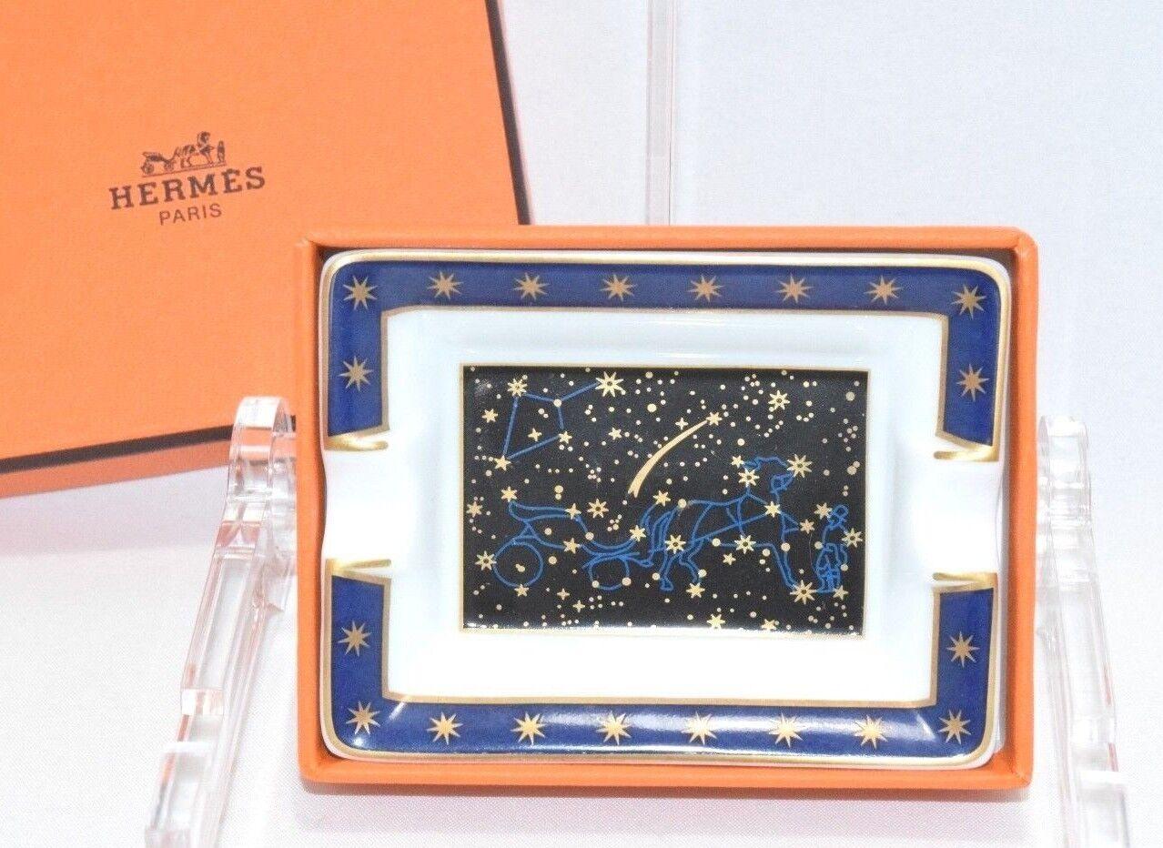 Hermes astrologie Mini petit cendrier en porcelaine avec boite changement Plateau YA10
