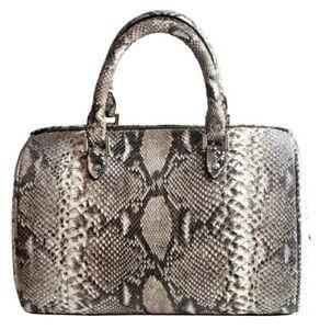 White Python Snake Handbag Unique