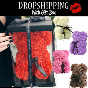 25cm-Teddy-Rose-Bear-Artificial-Flowers-For-Wedding-Birthday-Valentine-Gifts