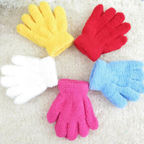 3 Pairs Infant Child Warm Knitted Gloves Boys /& Girls Thick Mittens Hand Warmer